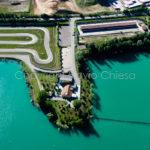 Riprese aeree del Comune di Castelletto di Branduzzo con le piste dedicate alle corse