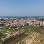 Riprese aeree realizzate con aeroplano di Casorate Primo in Lombardia