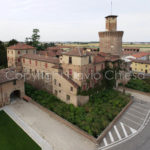 Riprese-aeree-Sartirana-Lomellina-il-castello-provincia-di-Pavia